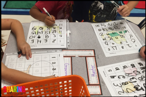 Letter Gg number writing practice with 4 versions