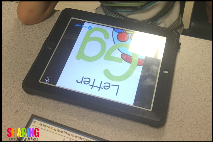Digital phonics using a free app called nearpod