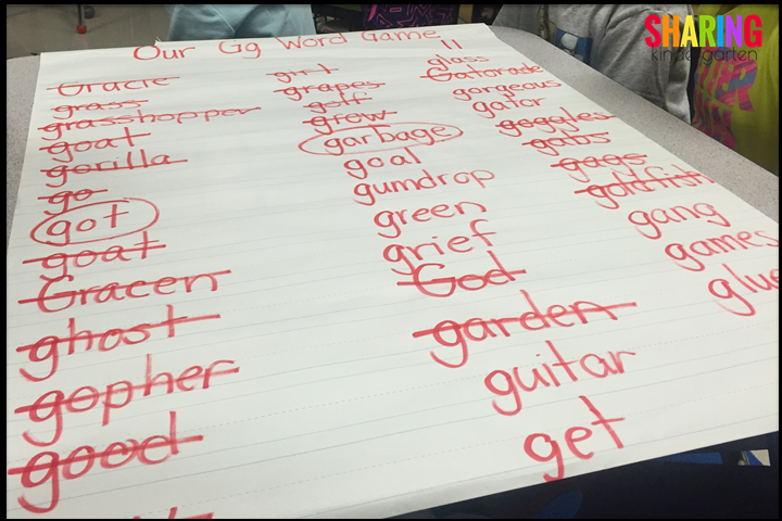 Charting Letter Game Challenge