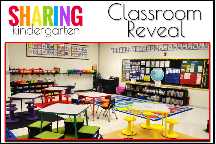 Check out this BOLD kindergarten room.
