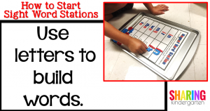 Use letters to build words.