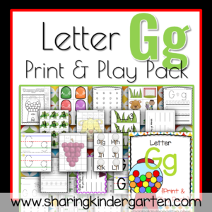 Letter Gg Print & Play Pack