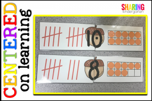 Tally mark and ten frame self checking puzzles