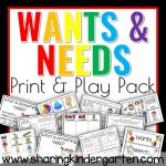 Wants and Needs Print and Play