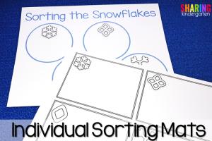 Sorting the snowflake sorting mats