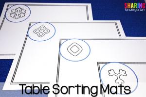 Table sorting mats freebie