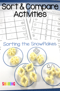Sort and Compare Activities for Snowflake Cheetos