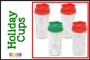 Holiday Cups for Student Christmas Gifts