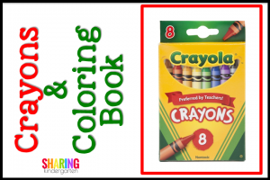 Crayons and Coloring Books for Student Christmas Gifts