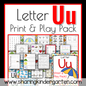 Letter U Print & Play Pack