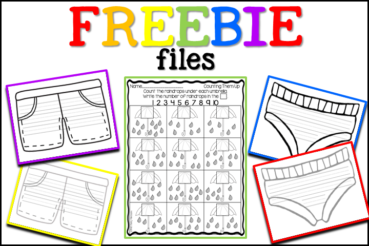 Freebie files for the letter Uu