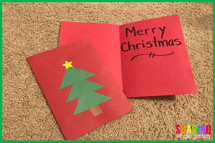 Christmas card students can easily make.
