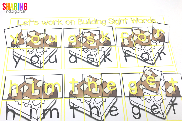 building sight words with If You Give a Mouse a Brownie