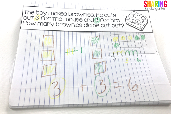 math journals for If You Give a Mouse a Brownie