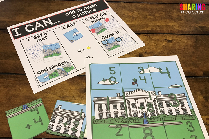 US Symbols Print & Play Pack for Addition