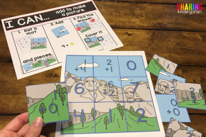 US Symbols Math Activities- Math puzzles