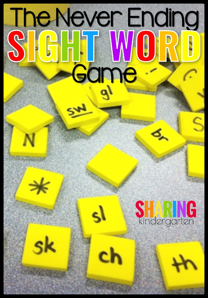 The never ending sight word game