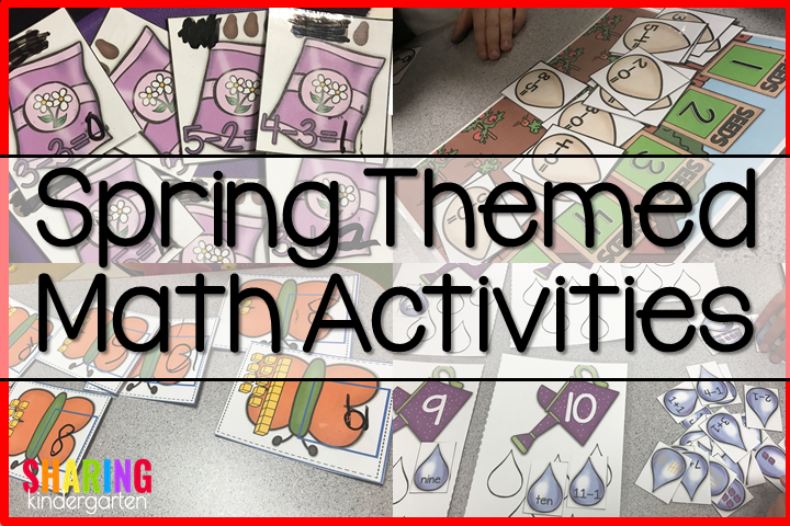 Spring Into Math Fun with Spring Themed Math Activities