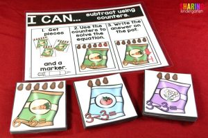 Spring Into Math Fun with these subtraction with counters activity.