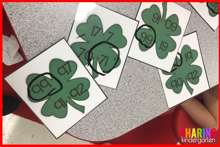 St. Patrick Math Activities: Comparing Numbers