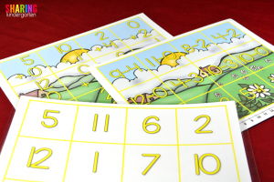 Spring Into Math Fun with addition and subtraction puzzles.