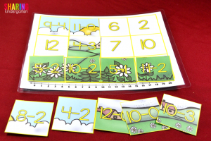 Spring Into Math Fun with making a picture addition fun!