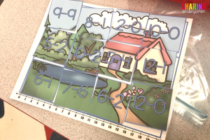 Spring Into Math Fun with subtraction fun puzzles.