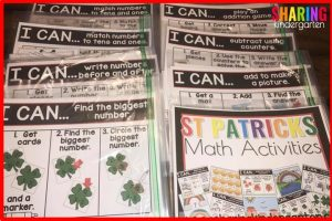 St. Patricks Math Activities