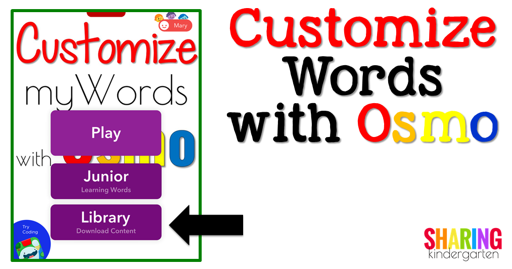 Customize Words with Osmo: Library Download Content