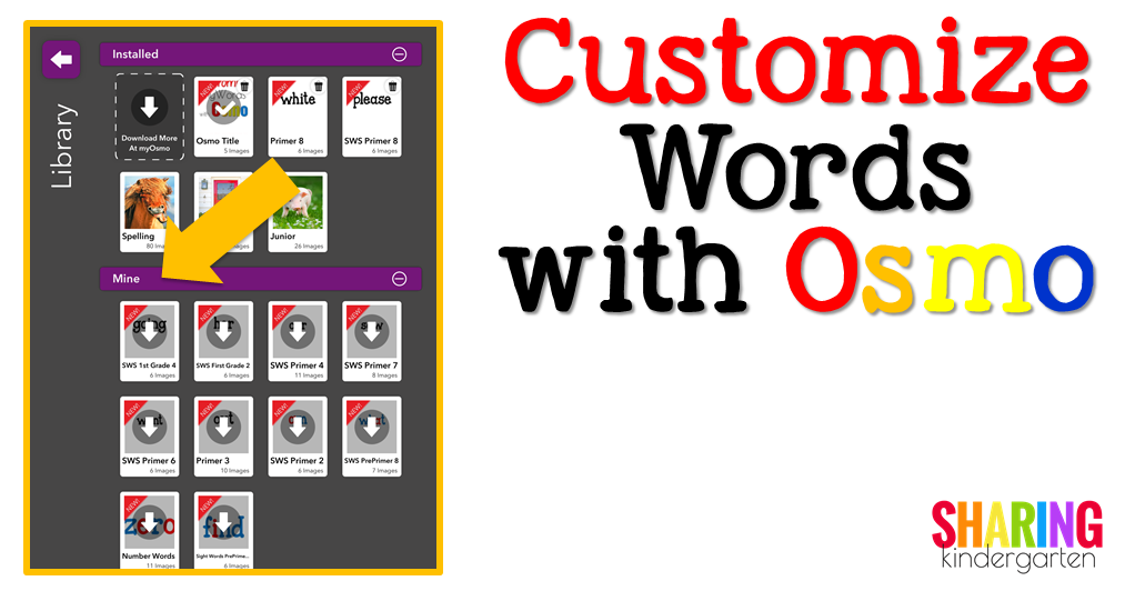 Customize Words with Osmo: Grab Your Games
