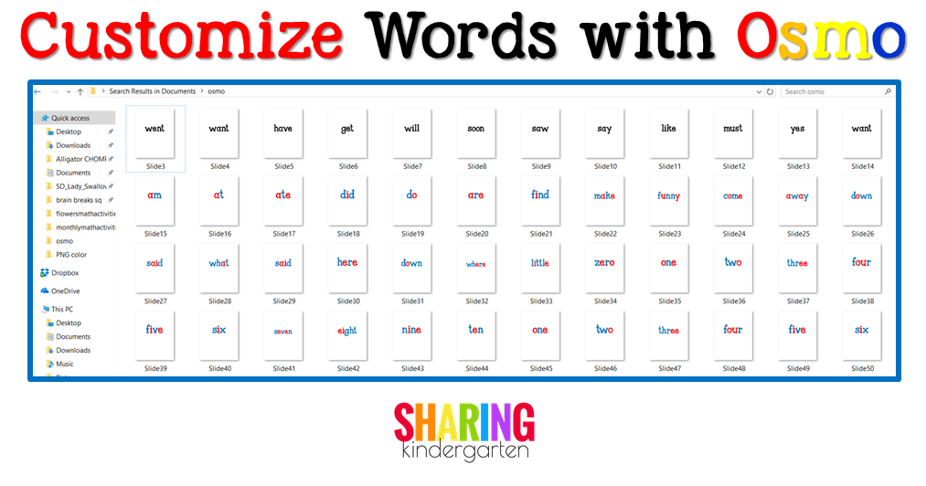 Customize Words with Osmo: Let Me Show You How