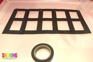 Washi Ten Frame Mat for a Light Table