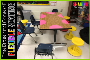 The Pros and Cons of Flexible Seating: This is how a math small group looks.