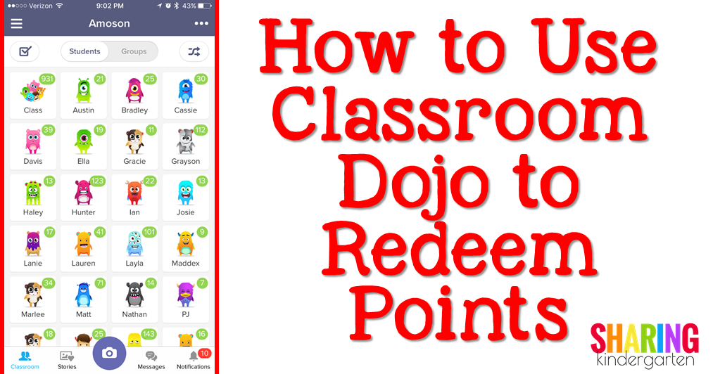 Save Your Sanity How To Use Class Dojo To Redeem Points Sharing Kindergarten