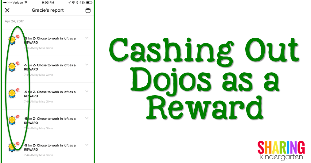 Cashing Out Dojos as a Reward