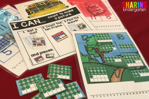 Back to School Math Activities~ Self Checking Puzzles