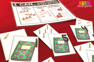 Back to School Math Activities~ Counting one to one and matching game