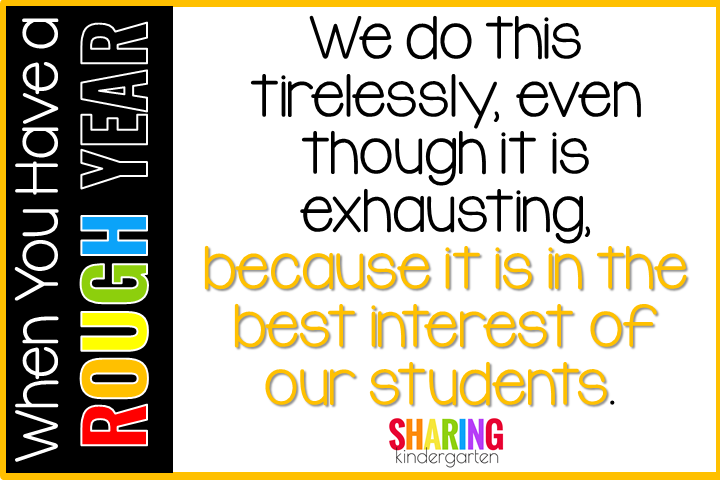 We do this tirelessly, even though it is exhausting, because it is in the best interest of our students.