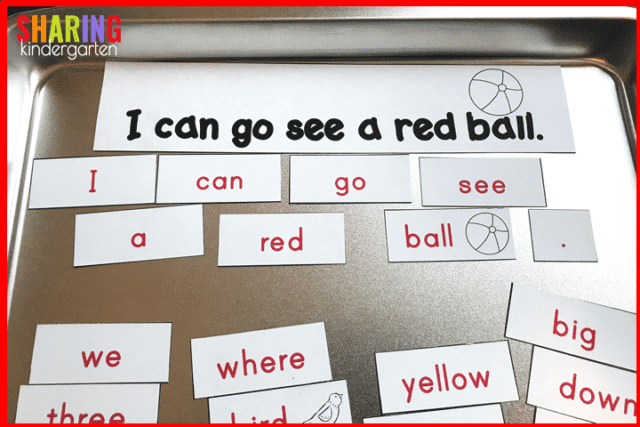 Printer Hack using Printable Magnetic Sheets- create custom sight word sentences and MORE!