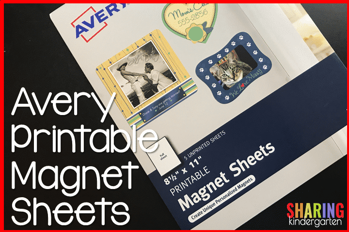 photograph relating to Avery Printable Magnet Sheets identified as Printer Hack with Printable Magnetic Sheets - Sharing