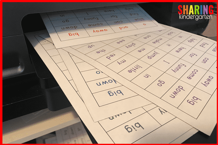 Print sight words your students NEED