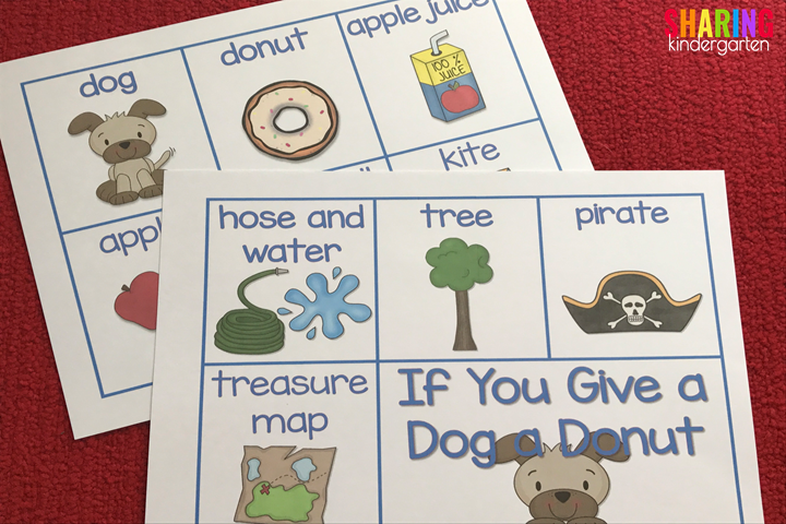 If You Give a Dog a Donut Sequencing Card