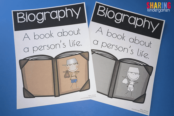 Biography Poster for little learners