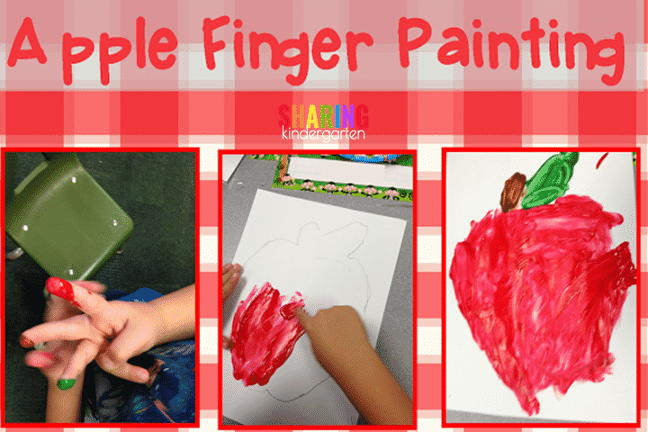 Apple Finger Painting FREEBIE
