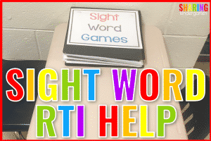 Sight Word RTI