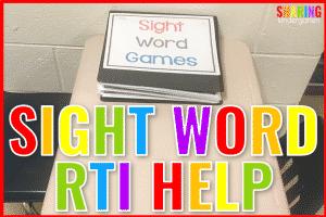 Sight Word RTI