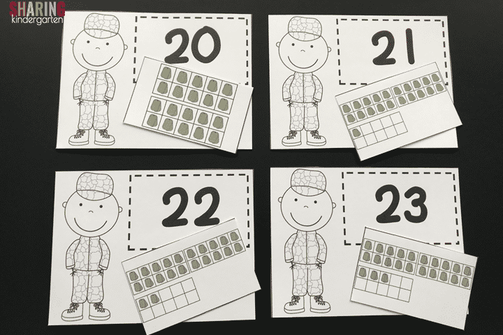 Number Matching with a Veteran Theme