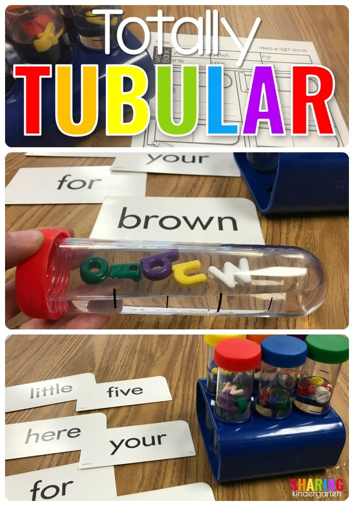 Totally Tubular Sight Word Idea