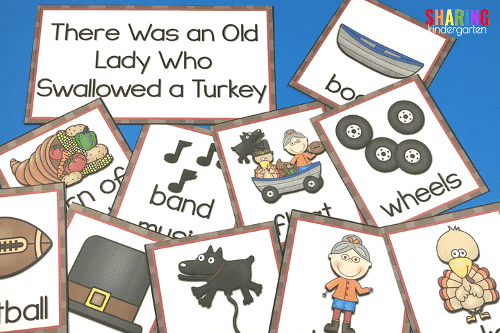 Covering Content with There Was an Old Lady Who Swallowed a Turkey