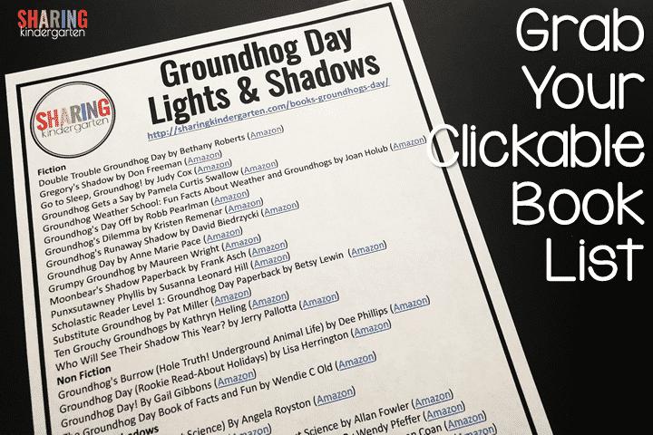 Groundhog Day FREEBIE Clickable Book List